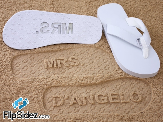 3eb9fc48a71cd0 Custom Bridal Sandals for Beach Weddings Personalize With