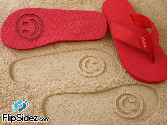 f5018ef1d41c4 Custom Smiley Face Flip Flops Personalized Design Your Own