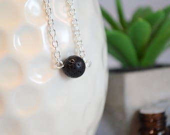 Lava Necklace, Essential Oil Necklace, Lava Stone Necklace, Oil Diffuser Necklace, Diffuser Necklace, Aromatherepy Necklace