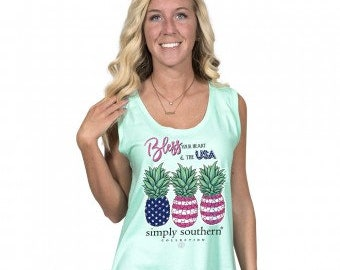 Simply Southern® TANK-BLESSED-SEA