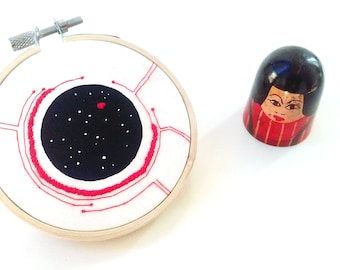 Embroidery hoop- One of a kind Artwork_ Beyond