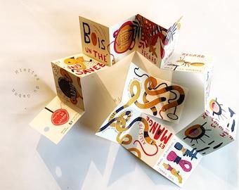 Mini zine, tiny art zine, artist book - Miettes du Gabon
