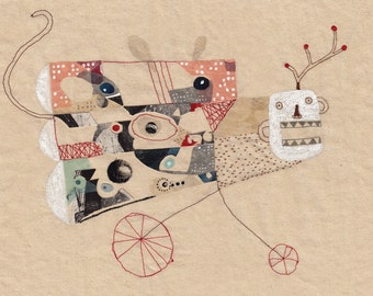 Art print A4 Illustration - Imaginary bestiary - Mosquitonkey