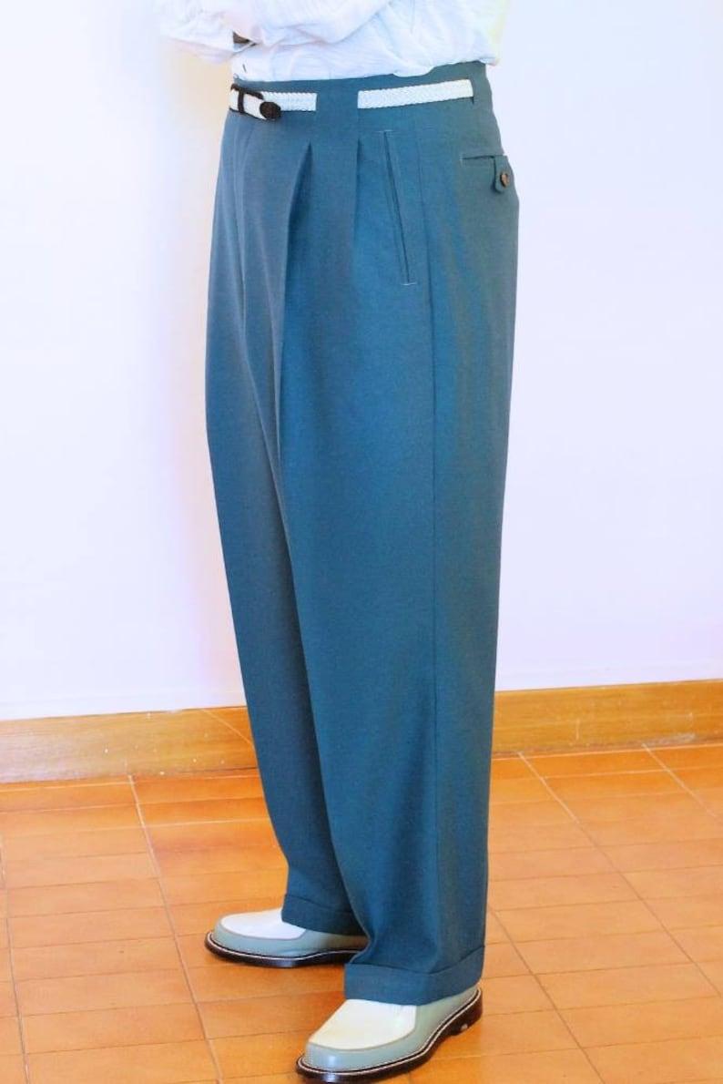 1940s Men's Clothing All colours 50s 40s Toni Slacks Hollywood waist $320.89 AT vintagedancer.com