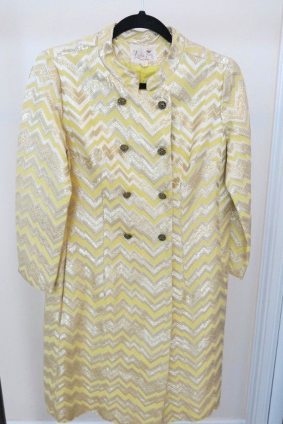 Vintage lamé 60's cardigan by LESLIE FAY