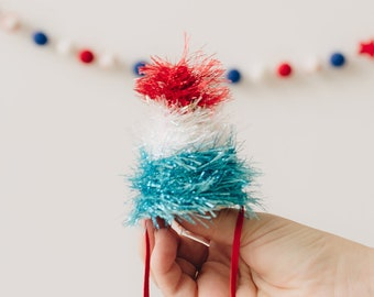 Bomb Pop || July 4th Hat || Independence Day Accessory || Red White Blue Hat || Fourth of July Parade Accessory