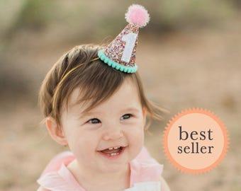 Birthday Hat    First Birthday Party Hat     First Birthday Hat    First Birthday Photo Prop    Add Any Number    1st Birthday Hat