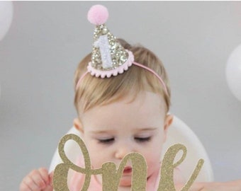 First Birthday Outfit Girl, First Birthday Girl Outfit, Smash Cake Girl, 1st Birthday Hat, First Birthday Party Hat, Ready To Ship