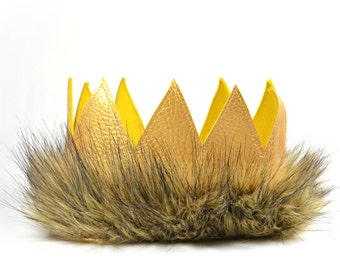 Where the Wild Things Are || Where The Wild Things Are Party Supplies || Max Crown || Wild One || King Of The Jungle || Crown Costume
