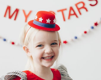 Uncle Sam Top Hat || Independence Day Accessory || Red White Blue Hat || Fourth of July Parade Accessory
