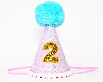 2nd Birthday Girl Party Hat Second Decor Smash Cake Prop Photo
