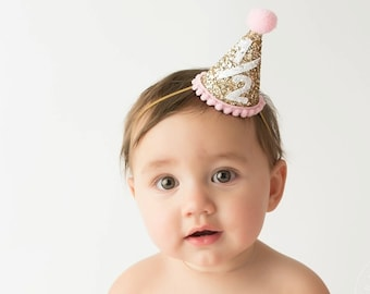 Half Birthday Outfit Girl, Baby Girl Party Hat, 1/2 Birthday Party Hat, Cake Smash, 1st Birthday Party Hat, Add Any Number