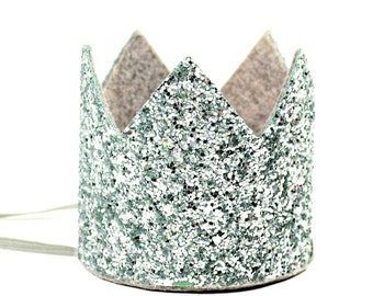 Silver Crown|| Silver Birthday Crown || Bachelorette Crown || Bachelorette Party || Glitter Party Hat || Little Blue Olive