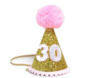 Adult Birthday Party Hat 30th For Her Dirty Thirty Add Any Number