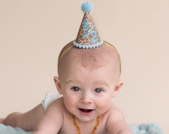 Half Birthday Party Hat First 1 2 Cake Smash Little Blue Olive