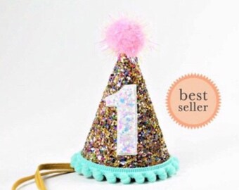 Birthday Party Hat For Girl 1st First Photo Prop Ready To Ship