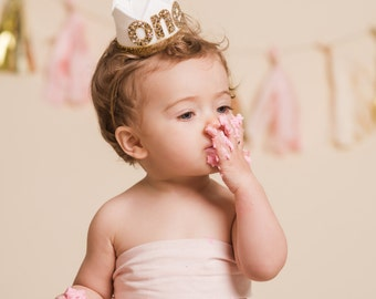 1st Birthday Outfit Girl || 1st Birthday Crown Headband ||  First Birthday Girl Outfit || First Birthday Cake Smash