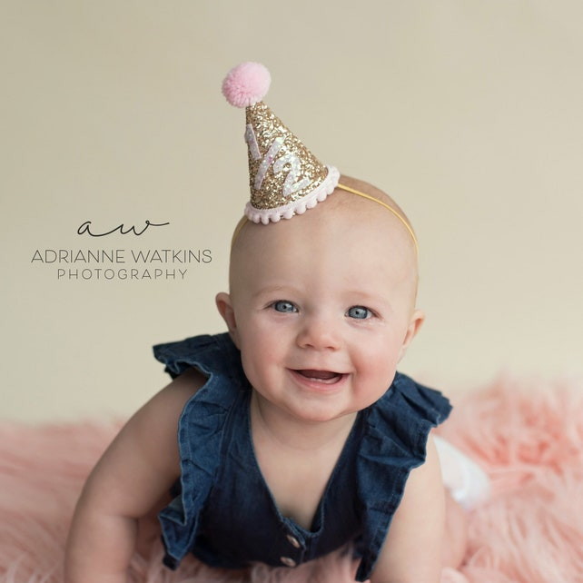 Six Month Girl Party Hat