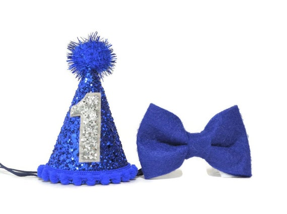1st Birthday Boy Party Hat And Bow Tie Set First