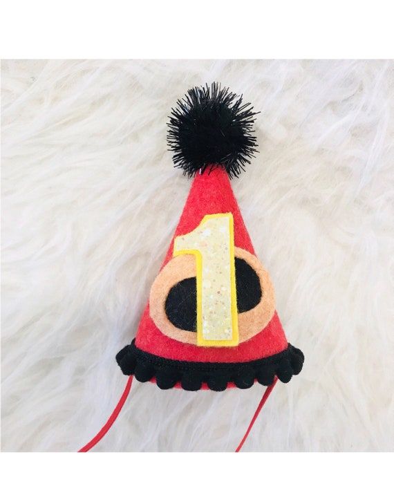 Incredibles Birthday Party Hat First