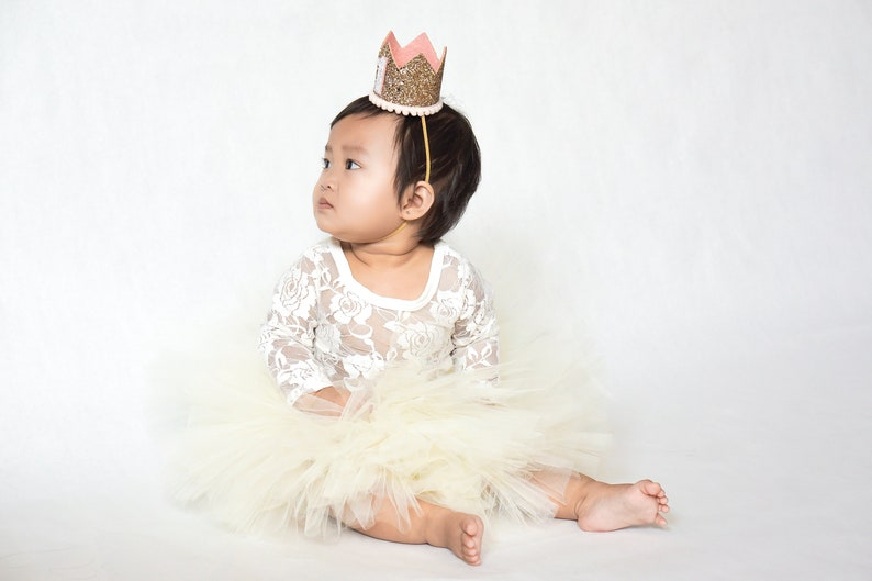 Rose Gold Birthday Crown Rose Gold Birthday Party Hat Rose Gold 1st Birthday Hat Rose Gold Photo Prop First Birthday Outfit Girl