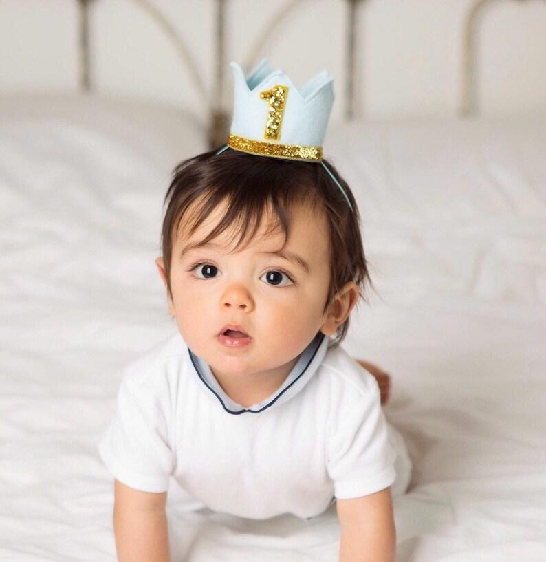 First Birthday Outfit Boy  Boy Birthday Crown  Boy image 0