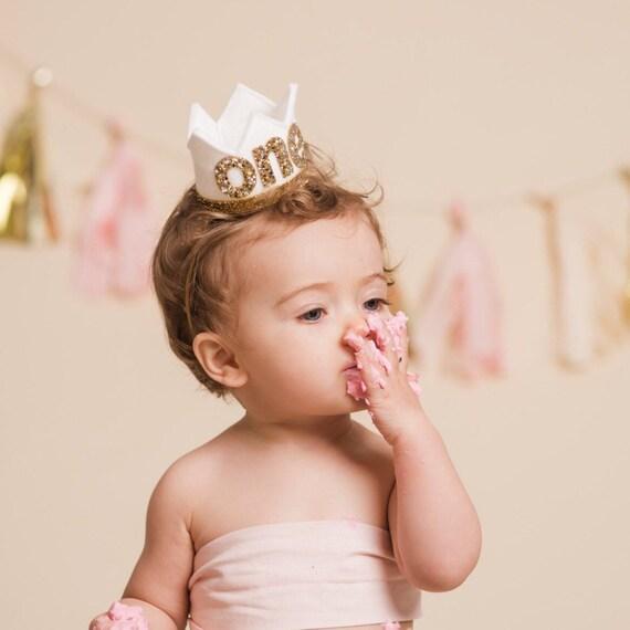 1st Birthday Outfit Girl 1st Birthday Crown Headband  49683fa9544