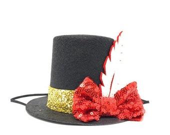 Ringmaster Top Hat Circus Party Birthday Mini Hat Birthday Girl Birthday Boy The Greatest Showman Party