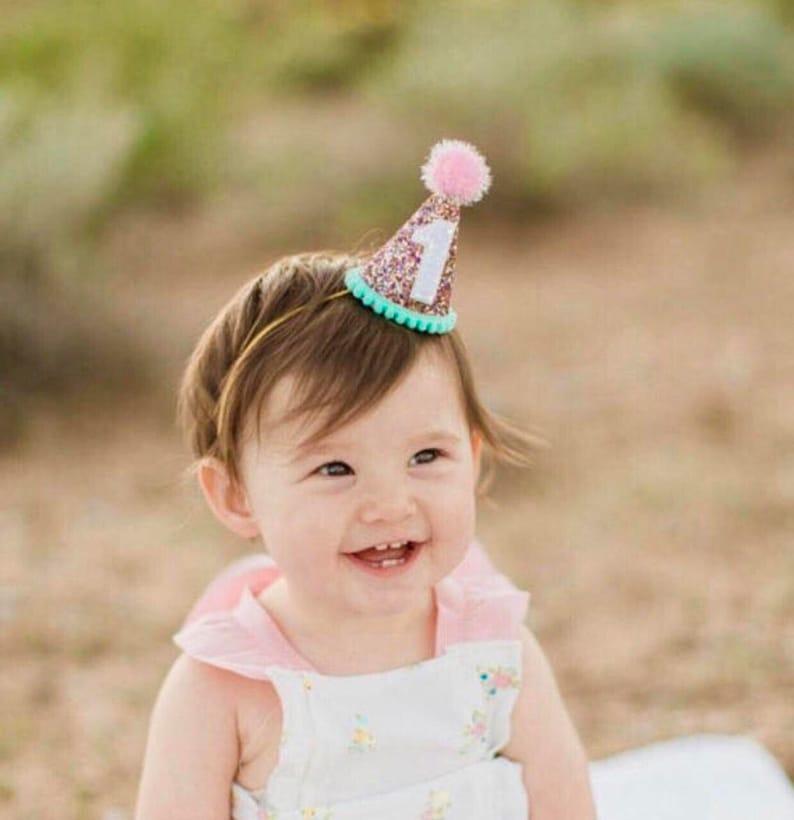 Birthday Party Hat 1st Birthday Hat Purple Little Blue Olive Girl Birthday Party Hat Birthday Party Prop