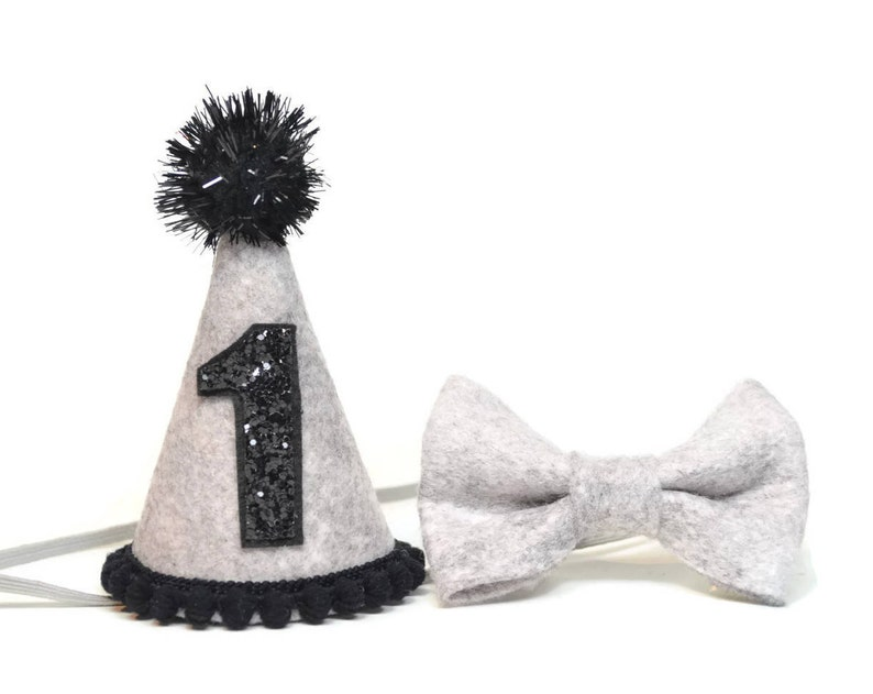 Boy Felt Birthday Hat And Bow Tie Set First Party