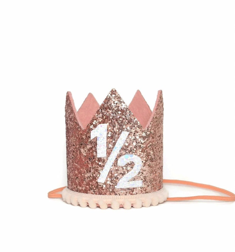 Rose Gold Half Birthday Party Hat 1/2 Birthday Party 1/2 image 0