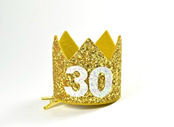 30th Birthday Crown For Her || Dirty 30 Birthday Crown || 30th Birthday Hat || Adult Party Crown Hat || 30th Birthday Crown Adult || Gold