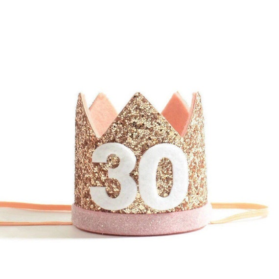Adult Birthday Party Pale Gold Crown