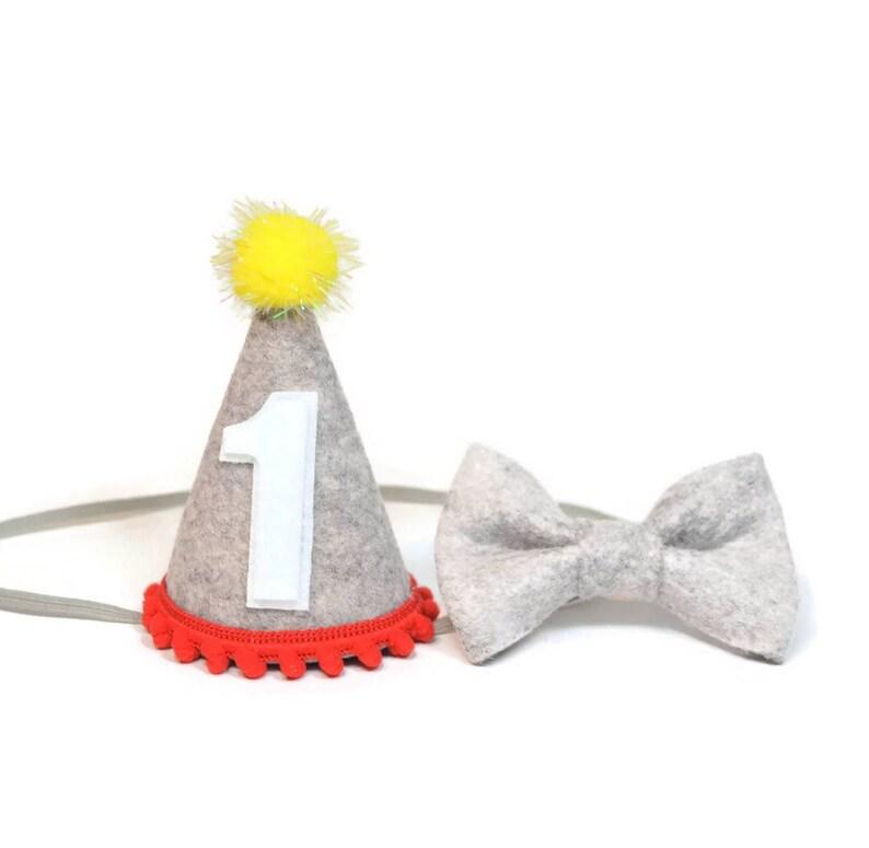 Boy Felt 1st Birthday Hat And Bow Tie Set Circus