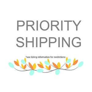 Domestic Only Rush My Order plus Priority Shipping Upgrade
