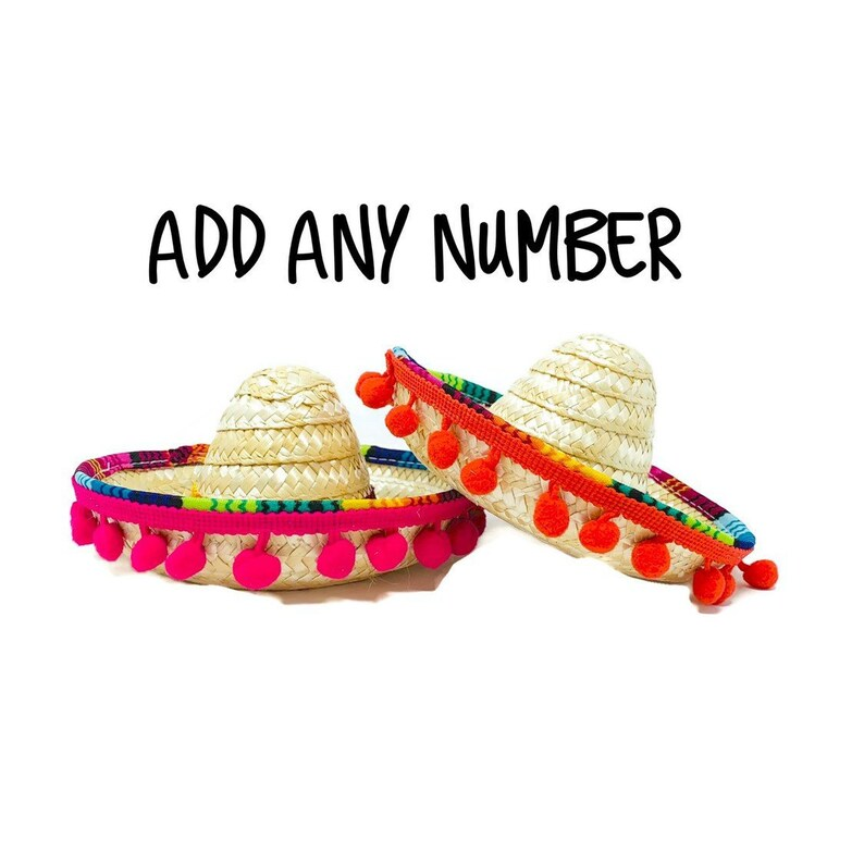 Fiesta Party Coco Mini Sombrero For All Ages Taco Twos Day Taco Bout A Party Cinco De Mayo Uno Birthday Party Hat