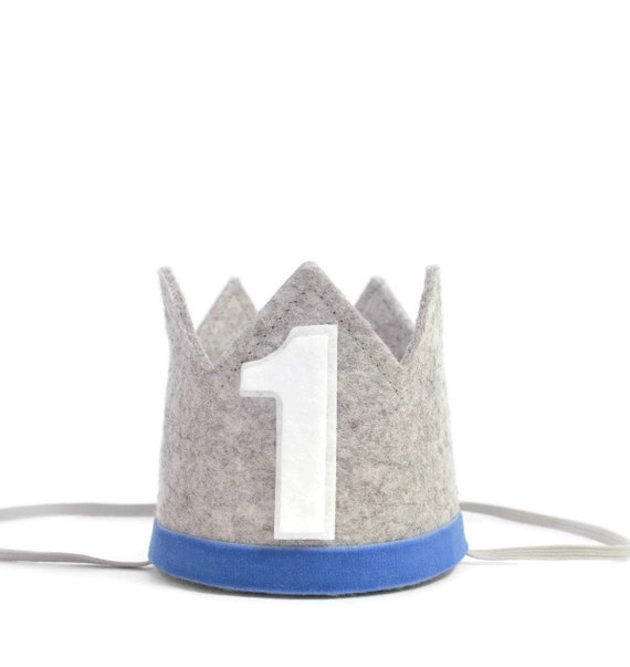 1st Birthday Boy Crown Outfit Party Hat