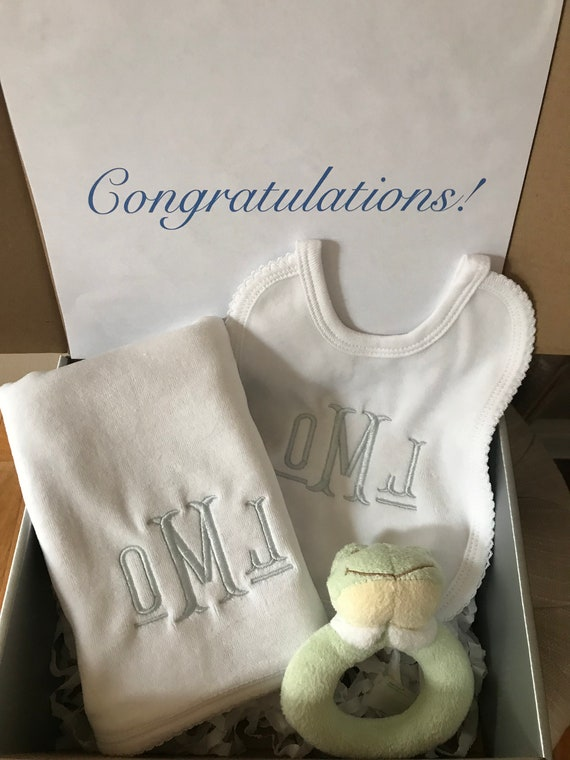 New Baby Gift Set with Silver Box