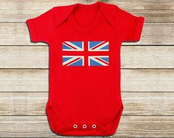 1d5c6324c299 Union Jack - Baby Body Suit - British Baby - Brit Baby - British Baby  Clothes - Union Jack Baby - Baby Gift - British Baby Gift