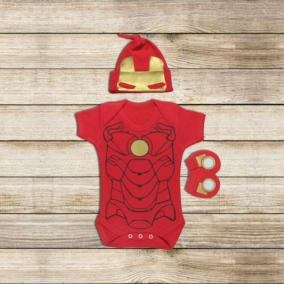 Baby Iron Man Baby Avengers Iron Man Baby Gift Set Etsy