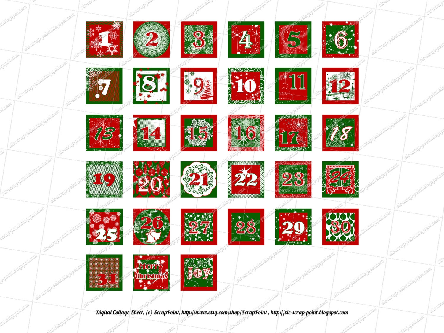 graphic regarding Christmas Numbers Printable named Printable DECEMBER Every day Figures (1, 1.5, 2 3 inch squares) Introduction Calendar. Instantaneous Down load Electronic Collage Sheet Xmas Task Lifetime