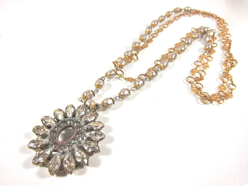 cb97be99c5975 Catherine Popesco 14K Gold Plated, Swarovski Crystal and Fresh Water Pearl  Double Strand Necklace-Made In France-Free Shipping In USA
