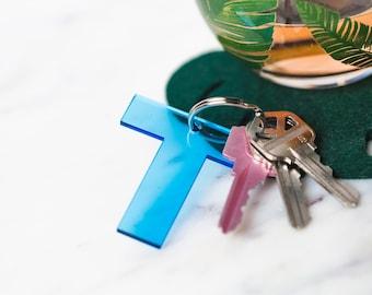 Acrylic Initial Keychain, Alphabet Keychain, Personalized Initial Keychain, Custom Letter Keychain