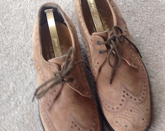 Vintage Suede Men's Brogue Shoes
