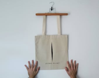 Tote Bag - Screenprint Over Cotton Canvas Tote Lucio Fontana