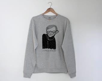 Stephen Hawking Regular Unisex Sweatshirt Sweater Jumper