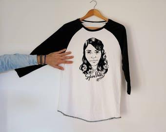 Sylvia Plath Unisex Baseball Tshirt 3/4 Sleeve