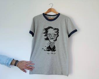 Edgar Allan Poe Retro Unisex Tshirt