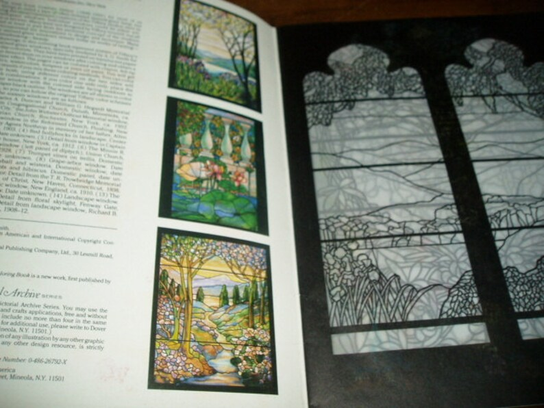 Tiffany Designs Stained Glass Coloring Book A. G. Smith 1991 Dover