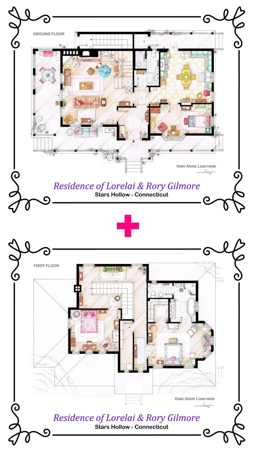 Lorelai And Rory Gilmore S House From Gilmore Girls Etsy